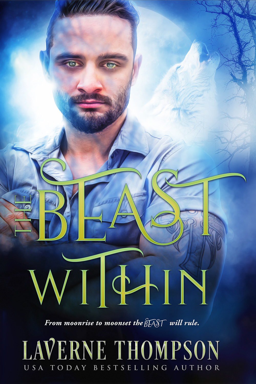 The Beast Within: Paranormal Book Cover Design – Custom book