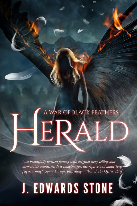 Herald (A War of Black Feathers Book 1): Young Adult Paranormal Custom Cover